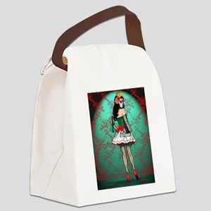 Dia De Los Muertos Stockings Pin-up Canvas Lunch B